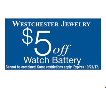$5 OFF watch Battery