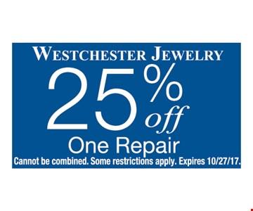 25% OFF One Repair