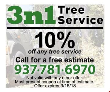 10% off any tree service