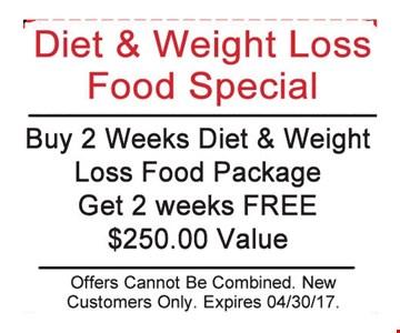 Buy 2 Weeks Diet & Weight Loss Food Package Get 2 Weeks Free