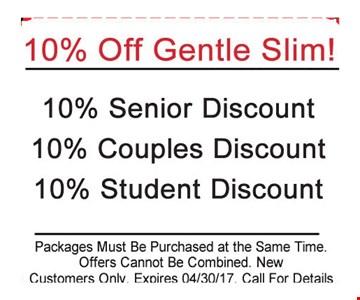 10% Off Gentle Slim