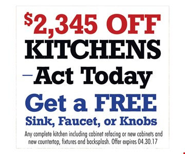 $2,345 Off Kitchens
