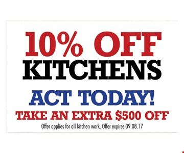 10% off kitchens.