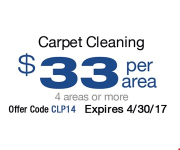 $33 Per Area Carpet Cleaning