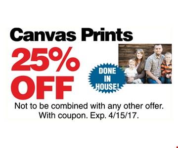 Canvas Print 25% off
