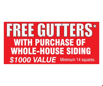 Free Gutters With Purchase Of Whole-House Siding