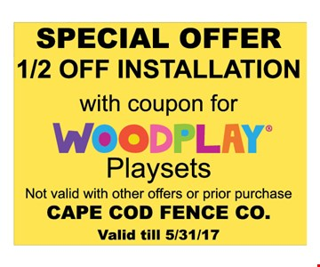 Special offer 1/2 off installation