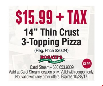 $15.99 + tax, 14