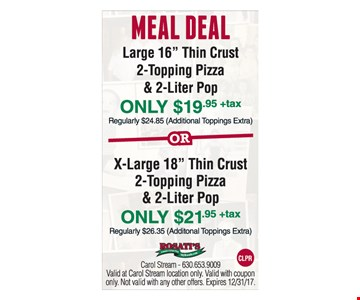 Meal Deal, Large 16