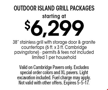 starting at $6,299 outdoor island grill packages 38