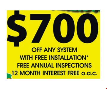 $700 off any system