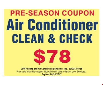 Air Conditioner Clean & Check $78