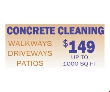 $149 concrete cleaning
