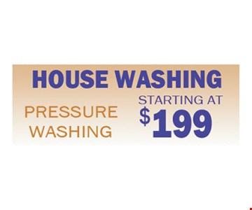 House washing starting at $199
