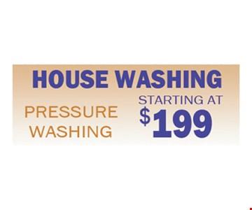 House Pressure Washing starting at $199