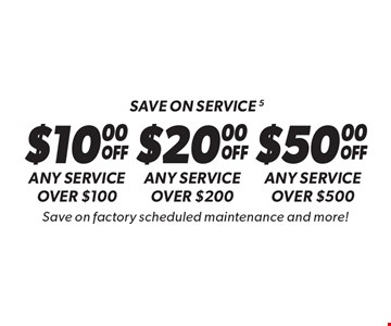 Save on service - Any service over $100. Any service over $200. Any service over $500. Save on factory scheduled maintenance and more! Discount applies to regular retail pricing. Not valid on the sale of tires and batteries. Coupon must be presented at time of estimate. Valid on most cars and light trucks at participating Meineke US locations only. Not valid with any other offers, special order parts or warranty work. See center manager for complete details. No cash value. Void where prohibited. Limited time offer. Offer ends 12/15/17.