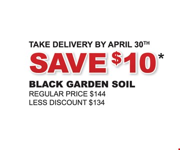 Save $10. Black garden soil