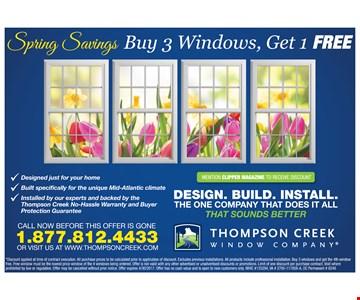 Get 3 Windows, Get 1 FREE