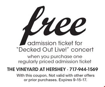 Free admission ticket for
