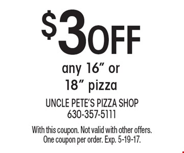 $3 Off any 16