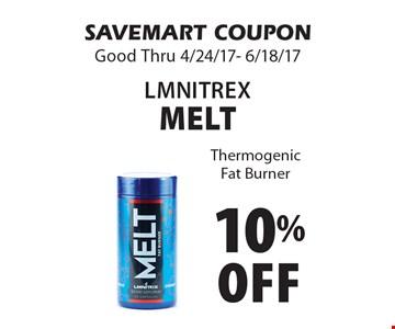 10% Off lmnitrex Melt. Thermogenic Fat Burner. SAVEMART COUPON. Good Thru 4/24/17- 6/18/17