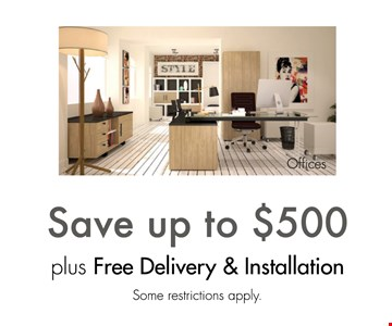 Save up to $500 plus free delivery and installation