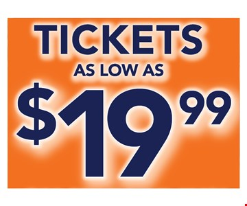 tickets as low as $19.99