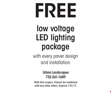 FREE low voltage LED lighting package with every paver design 