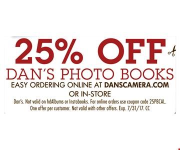 25% Off Dan's Photo Books