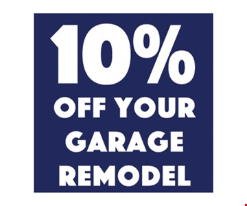 10% Off your garage remodel