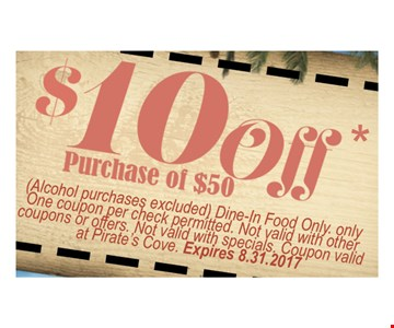 $10 off purchase of $50