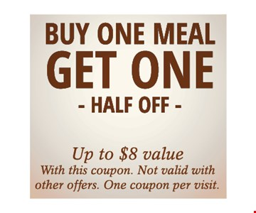 Buy One Meal Get One Half Off