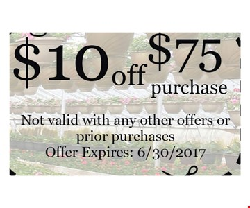 $10 Off $75 purchase