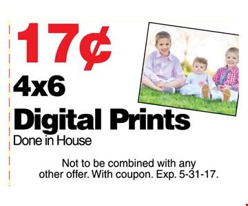 .17 cents 4 x 6 digital prints