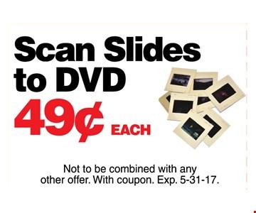 Scan slides to DVD .49 each