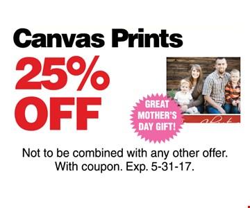 Canvas Prints 25% off