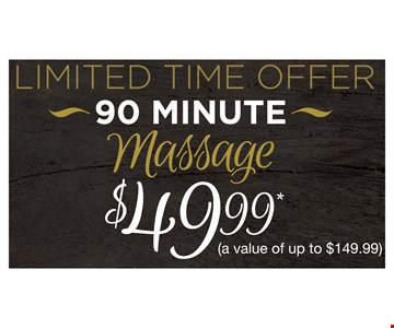 $49.99 90-minute massage