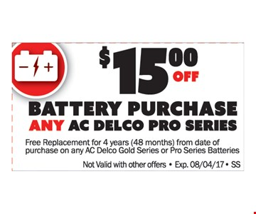 $15 Off Battery Purchase