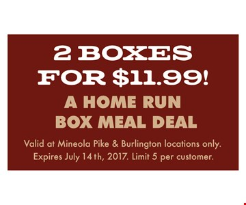 2 boxes for $11.99