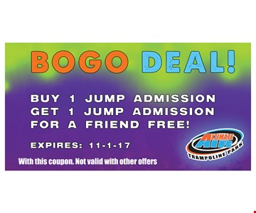 Buy 1 Jump Admission Get 1 Jump Admission For A Friend Free