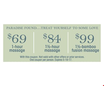 $69 - $99 Massages