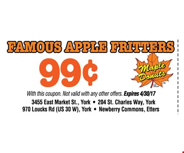 famous apple fritters 99¢