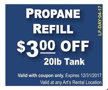 Propane refill $3 off