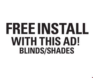 Free Install With This Ad