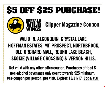 $5 off $25 purchase