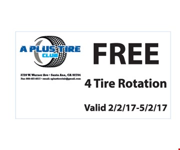 Free tire rotation.
