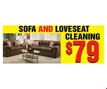 Sofa and loveseat cleaning $79