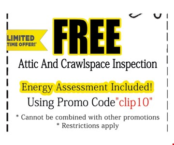 Free Attic and Crawlspace Inspection