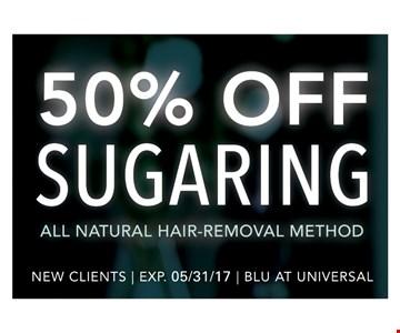 50% Off Sugaring