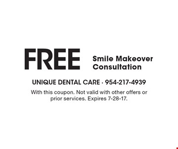 $500 Off implant overdenture case (implants must be done in office). With this coupon. Not valid with other offers or prior services. Expires 7-28-17.